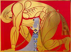 """ERTE (ROMAIN DE TIRTOFF) """"Samson and Delilah"""" 1970"""