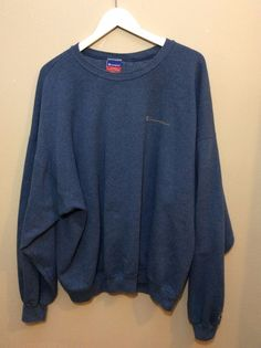 f3afbead916d Champion Spelled Out Oversized Blue Gray Sweatshirt Size XXL Mexico