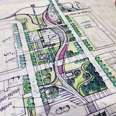 Tips On Urban Landscaping – My Best Rock Landscaping Ideas Landscape Architecture Model, Landscape And Urbanism, Architecture Concept Drawings, Architecture Logo, Landscape Design Plans, Pavilion Architecture, Architecture Collage, Architecture Graphics, Sustainable Architecture