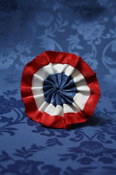 Les Miserables Cockade Rosette Pin Red White Blue - Pleated on Etsy, $9.82