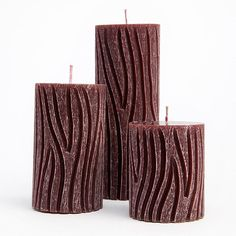 Carved candles Pillar candles Scented Candles by AmeliaCandles