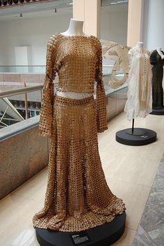 Recycled paper dress...smokin'!