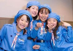 Japanese Brownie Girl Scouts