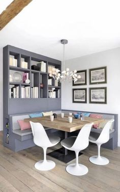 Ideas Corner Seating Kitchen Breakfast Nooks Small Spaces For 2019 Bench Seating Kitchen Table, Kitchen Benches, Kitchen Banquette Ideas, Built In Dining Room Seating, Kitchen Booths, Corner Banquette, Corner Bench Kitchen Table, Banquette Table, Kitchen Breakfast Nooks