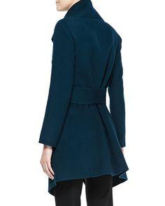 a73f1cce354 Donna Karan Self-Belted Cashmere Wrap Coat