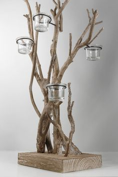 Moss Covered Coastal Range Natural Branches Bundle of 3 - Decoration Fireplace Garden art ideas Home accessories Driftwood Candle Holders, Driftwood Lamp, Driftwood Projects, Wood Lamps, Pallet Wall Decor, Home Decor Wall Art, Pallet Wood, Fireplace Lighting, Hanging Mason Jars
