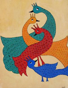 Handmade with Love: Gond Painting !!