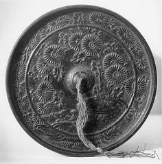 "Bronze Mirror, Kamakura period (1185–1333). 4.5"" wide"