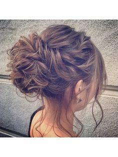 高めでまとめたルーズアレンジ - 24時間いつでもWEB予約OK!ヘアスタイル10万点以上掲載!お気に入りの髪型、人気のヘアスタイルを探すならKirei Style[キレイスタイル]で。