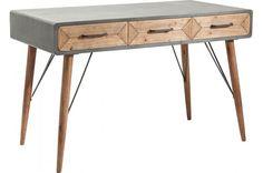 Bureau en bois factory tiroirs kare design bureau a tiroir