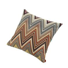 Indulge in the high-fashion flair of Missoni Home with the ultra-chic Kew Cushion. Vivid multicolor chevrons pop against this lush cushion, offering sumptuou...