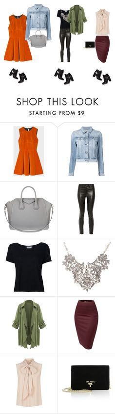 """""""1 ankle boot = 3 looks"""" by bianca-hernandes-ramires on Polyvore featuring moda, Paul Smith, 3x1, Givenchy, Pierre Hardy, J Brand, Frame Denim, MaxMara e Prada"""