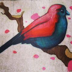 by ferdinandfeys: #spring is in the air. #streetart #bird by Matthew #Dawn - #graffiti #Gent #Belgium #visitgent