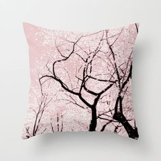 Pillow Cover, Cherry Blossom Tree Pillow, Pink Pillow, Nature Throw Pillow, Tree Photo Pillow, Living Room Decor, Bedding 16x16 18x18 20x20 $37.87 on Etsy