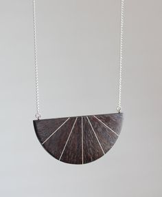 Handmade Wenge Necklace Wooden Necklace by JarvisWoodworks on Etsy