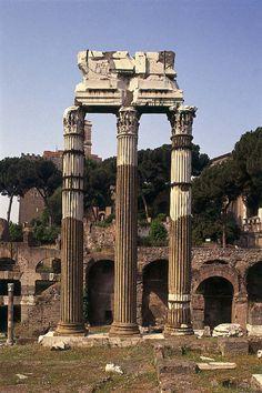 Em 44 aC , Júlio César dedicou um templo para seu antepassado mítico Venus Genetrix de acordo com a promessa que fez na batalha de Pharsalus . Este foi o mesmo templo mais tarde viria a ter uma estátua de Cleópatra VII colocado em , ao lado de uma estátua de si mesmo, escandalizando a população de Roma .