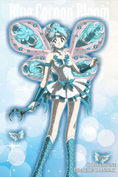 Blue Cocoon Bloom ~ by Eevee_Leaves99 ~ created using the Sailor Senshi doll maker | DollDivine.com