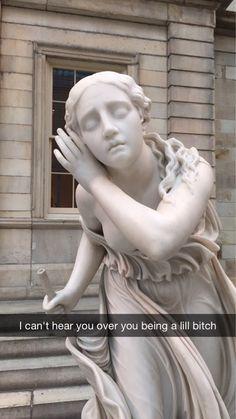 This honest statue: