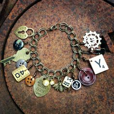 Junk drawer charm bracelet by Artistic Icing