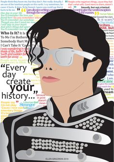 Michael Jackson Art filled with his quotes and lyrics! <3