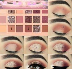 40 Easy Steps Eye Makeup Tutorial For Beginners To Look Great! - - - 40 Easy Steps Eye Makeup Tutorial For Beginners To Look Great! – – 40 Easy Steps Eye Makeup Tutorial For Beginners To Look Great! Sexy Eye Makeup, Makeup Eye Looks, Eye Makeup Steps, Eye Makeup Art, Blue Eye Makeup, Makeup For Brown Eyes, Eyebrow Makeup, Mac Makeup, Huda Beauty Makeup