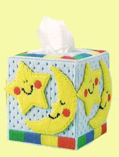 Cute Boutique Size Tissue Box Cover for the by NiftyStitches4U, $20.00