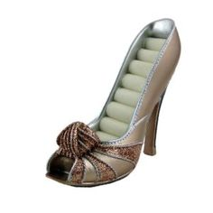Peep Toe Shoe Ring Holder feature a variety of stylish high heeled, peep-toe shoe designs with cushioned ring rolls and chic detailing. Toe Shoes, Designer Shoes, Gold Rings, Peep Toe, Ring Holders, High Heels, Shoe Designs, Glitter, Chic