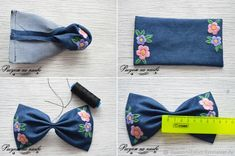 How to Make a Headband with a Bow and Satin Stitch, фото № 8 Hand Embroidery Flowers, Flower Embroidery Designs, Diy Embroidery, Embroidery Patterns, Handmade Hair Bows, Diy Hair Bows, Diy Hair Accessories Ribbon, Making Hair Bows, Diy Headband