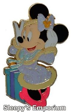 MINNIE MOUSE SPARKLE CHRISTMAS 2007 HKDL JUMBO LE Disney Pin