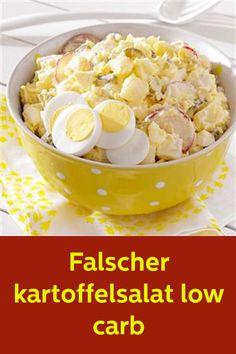 Falscher kartoffelsalat low carb - Düşük karbonhidrat yemekleri - Las recetas más prácticas y fáciles Low Carb Recipes, Diet Recipes, Cooking Recipes, Healthy Recipes, Low Carb Raffaelo, Low Carb Potatoes, Healthy Eating Tips, Low Carb Diet, No Cook Meals