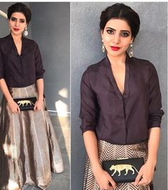 Samantha Prabhu # raw mango # fusion look 2016# Indian fashion #