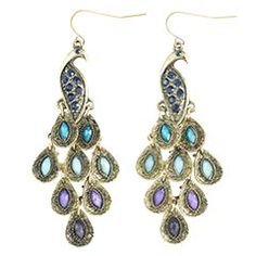 Pier 1 Peacock Earrings