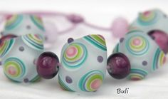 Handmade Lampwork Glass Beads Sets by BuliGlassBeads on Etsy