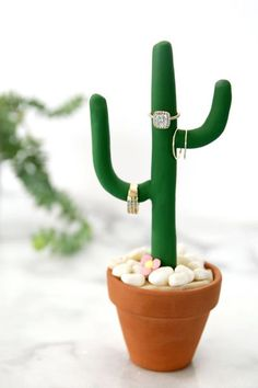 Cactus Ring Stand - Budget-Friendly Gifts You Can Make - Photos