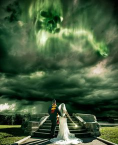 Harry Potter Wedding-I want to get remarried just so I can have this picture