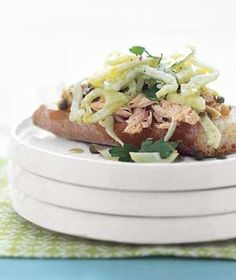 Open-Faced Tuna and Fennel Sandwiches