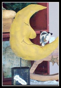 Primitive Baby Nursery Decor  The Cow Jumped Over The Moon