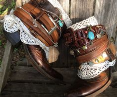 Cowboy boots// Custom made Boots// BOHO Boots//Ankle Boots// Leather Boots// Fall Boots// Made to Order