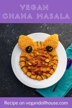 This vegan chana masala can be made on the stove or in an instant pot. You can use any vegetables, but it's a great recipe idea for using up winter squash. You can decorate it to look like a tiger so the kids will like it too. #vegan #plantbased #chanamasala #squash #winter #recipe #cutefood #kawaii #vegandollhouse Vegan Dinner Recipes, Delicious Vegan Recipes, Vegan Dinners, Great Recipes, Vegan Chana Masala, Easy Vegan Dinner, Edible Creations, Masala Recipe, Vegan Foods
