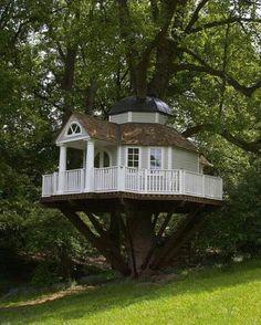 Back yard kids tree house