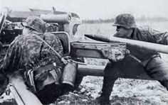 Waffen-SS in action with a PAK 40.