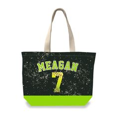 Custom Personalized Softball Stitch Tote Bag