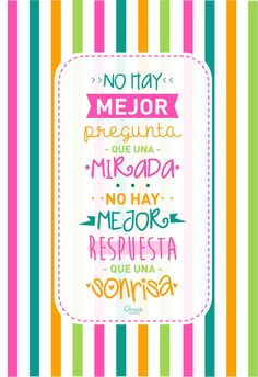 IDIOMA UNIVERSAL ♥ The Words, More Than Words, Mr Wonderful, Spanish Quotes, Cute Quotes, Picture Quotes, Sentences, Affirmations, Love You