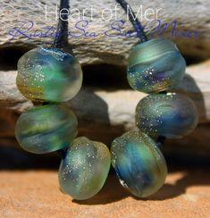 Heart of Mer Sea Salt Organics Glass Lampwork Beads