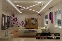 Modern pop false ceiling designs for bedroom interior,suspended gypsum false ceiling