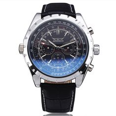 2013 NEW STEAMPUNK Elegant Black Leather Strap Automatic Mechanical Men's Man's Watch Free Shipping - Online Shopping for Watches