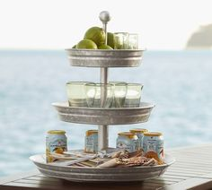 This would be great to win!  #LoveYourFloor Galvanized Metal Tiered Stand