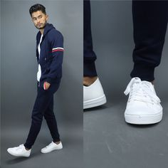 Navy outfits, casual school outfits, outfit hombre casual, teaching m Casual School Outfits, Stylish Mens Outfits, Navy Outfits, Outfit Hombre Casual, Large Men Fashion, Teaching Mens Fashion, White Sneakers Outfit, Smart Casual Men, Hoodie Outfit