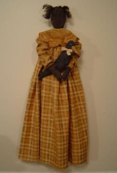 Primitive Folk Art Cloth Doll Pattern  epattern by Raggedyrhondas, $8.00