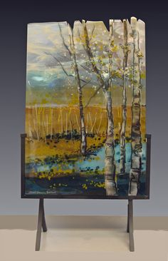 Fused Glass panel: Distant Warmth
